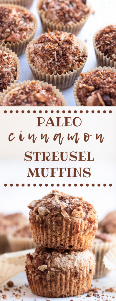 paleo cinnamon streusel muffins