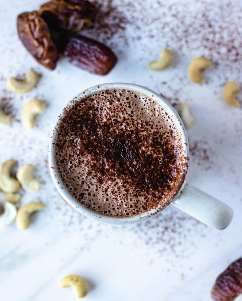 dairy free hot chocolate, paleo hot chocolate, pumpkin spice hot chocolate