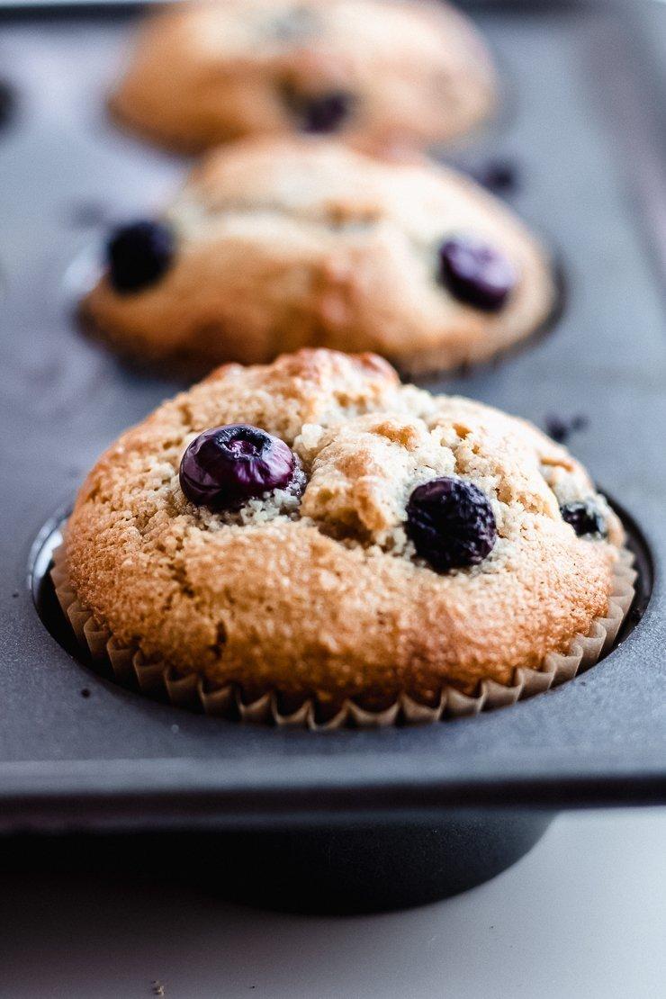 healthy paleo blueberry muffins