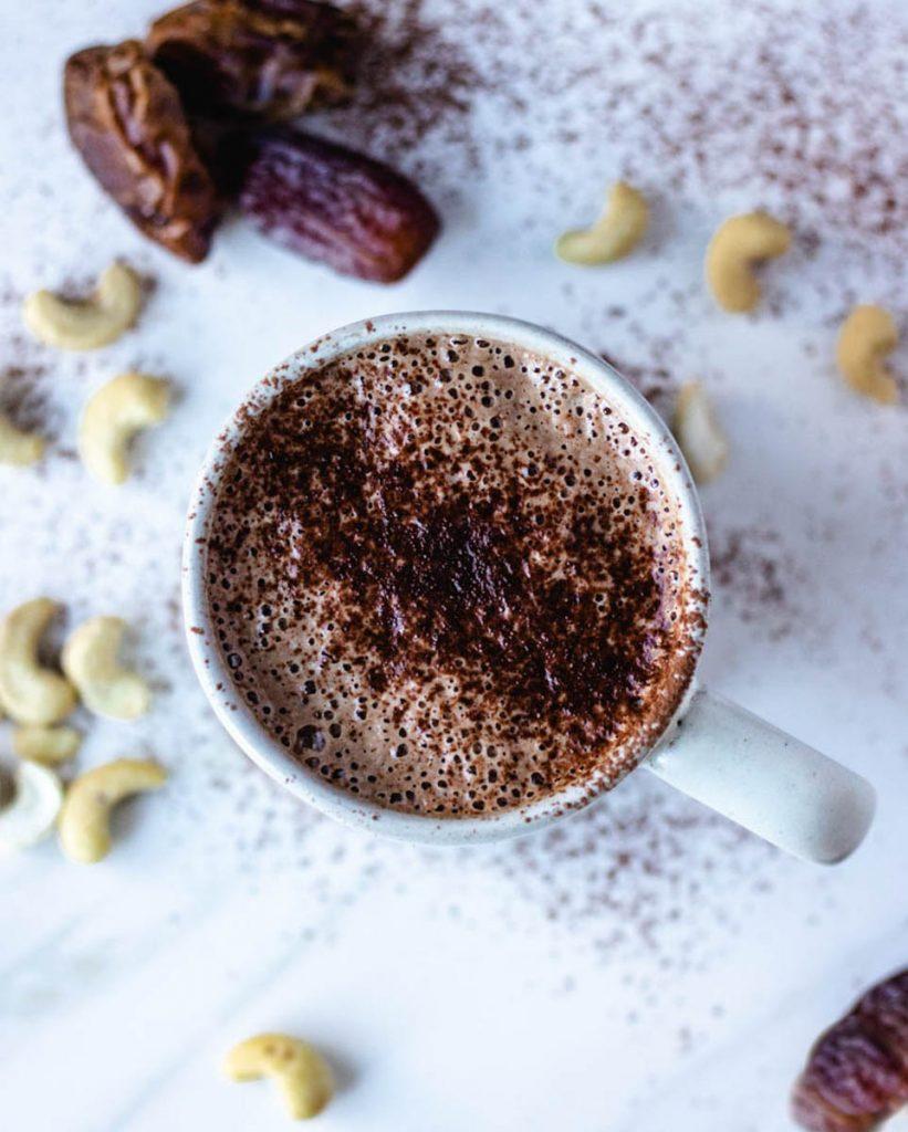 dairy free hot chocolate, paleo hot chocolate, pumpkin spice hot chocolate