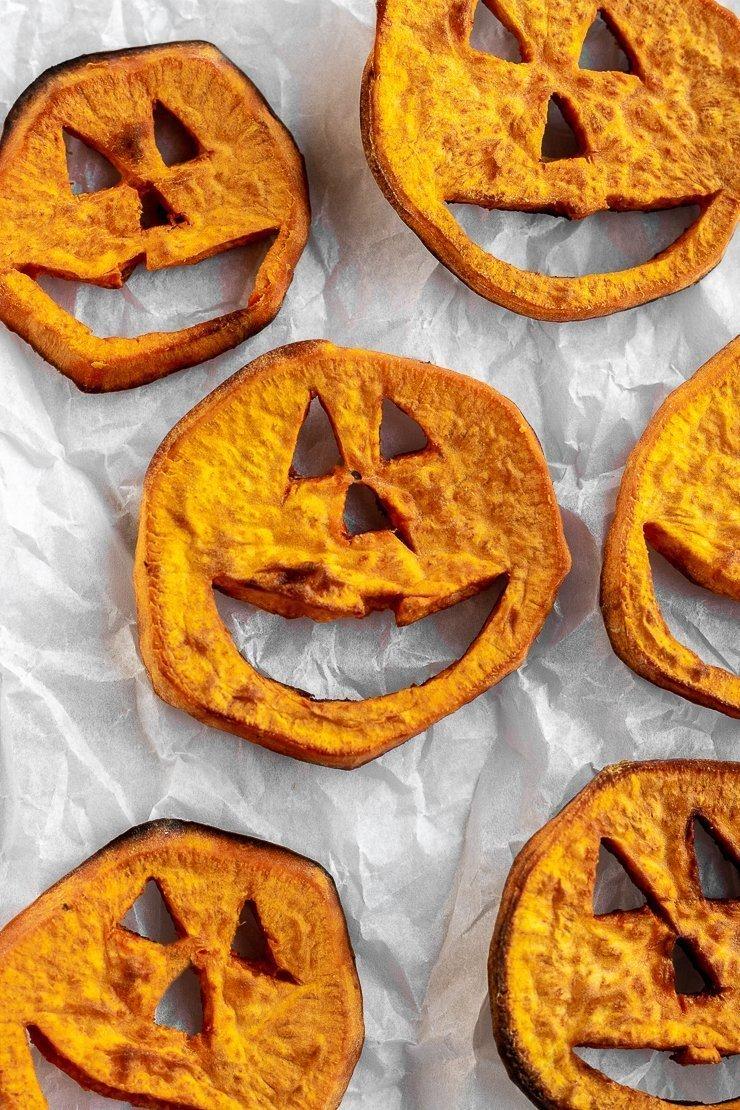 Halloween Food Ideas Sweet Potato Jack O Lanterns Simply Jillicious