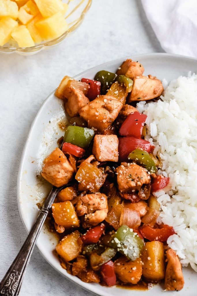 healthy pineapple chicken