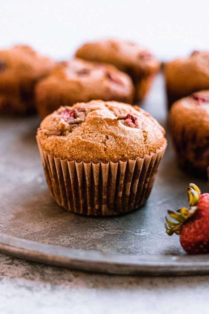 gluten free and paleo strawberry muffins